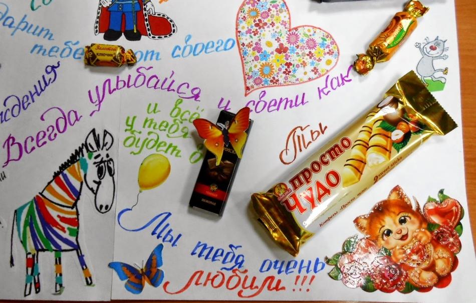 Картинки плакаты на день рождения со сладостями фото